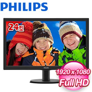PHILIPS 飛利浦 243V5QHABA 24型 Full HD MVA液晶螢幕