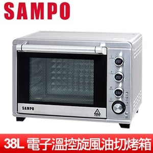 SAMPO聲寶 38L電子雙溫控旋風油切烤箱(KZ-TA38F)