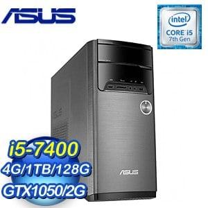 ASUS 華碩 M32CD-K-0031C740GXT VivoPC桌上型電腦(i5-7400/4G/128G+1TB/GTX1050/Win10)