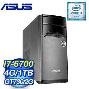 ASUS 華碩 M32CD-0081C670GTT VivoPC桌上型電腦(i7-6700/4G/1TB/GT730/Win10)