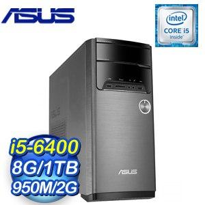 ASUS 華碩 M32CD-0111C640GXT VivoPC桌上型電腦(i5-6400/8G/1TB/GTX950M/Win10)