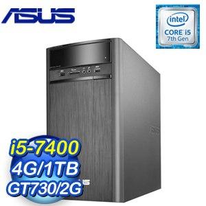 ASUS 華碩 K31CD-K-0021A740GTT VivoPC桌上型電腦(i5-7400/4G/1TB/GT730/Win10)