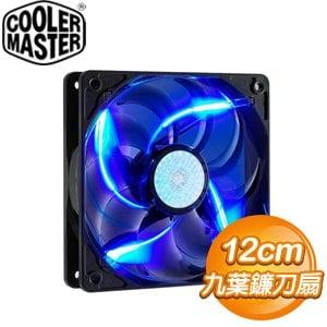 Cooler Master 酷碼 12CM 藍光 九葉鐮刀扇