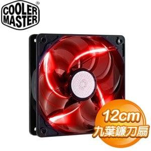 Cooler Master 酷碼 12CM 紅光 九葉鐮刀扇