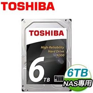 Toshiba 東芝 6TB 128MB SATA3 NAS專用硬碟(HDWN160AZSTA)