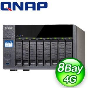 QNAP 威聯通 TS-831X-4G NAS網路儲存伺服器