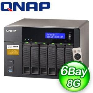 QNAP 威聯通 TS-653A-8G(附遙控器) NAS網路儲存伺服器