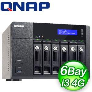 QNAP 威聯通 TVS-671-i3-4G NAS網路儲存伺服器