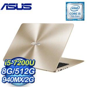 ASUS 華碩 UX430UQ-0081D7200U 14吋筆記型電《璀璨金》