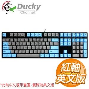 Ducky 創傑 One 紅軸 無背光 PBT熱昇華 藍灰帽 機械式鍵盤《英文版》