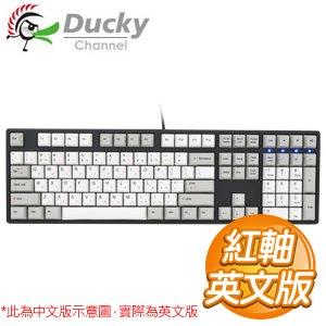Ducky 創傑 One 紅軸 無背光 PBT熱昇華 白灰帽 機械式鍵盤《英文版》