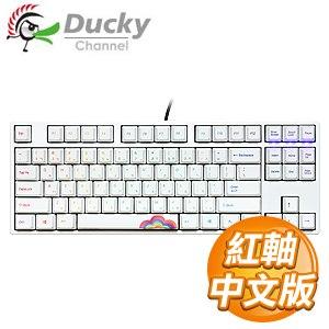 Ducky 創傑 One 80%彩虹版 紅軸 無背光 PBT熱昇華 機械式鍵盤《中文版》