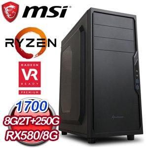 微星 HIGHER【龍飛鳳舞】AMD Ryzen 7 1700 RX580 ARMOR 8G 電競VR虛擬實境機