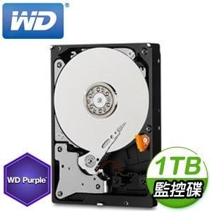 WD 威騰 1TB 3.5吋 5400轉 64M快取 SATA3紫標監控硬碟(WD10PURZ)