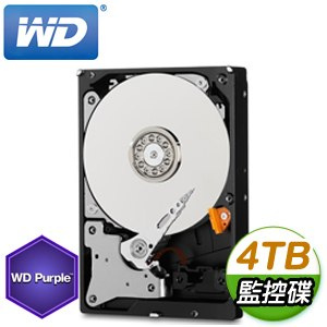 WD 威騰 4TB 3.5吋 5400轉 64M快取 SATA3紫標監控硬碟(WD40PURZ)