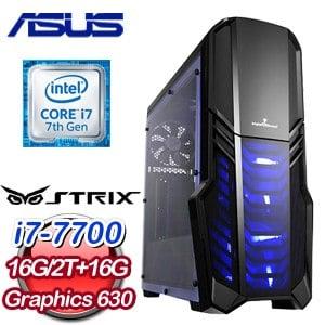 華碩 HIGHER【超級賽亞人】Intel Core i7-7700 16G M.2+2TB  高效能電腦