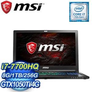 MSI 微星 GS63 7RE-021TW-BB7770H8G1T0DX10MH 15吋筆記型電腦
