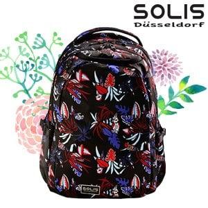 【SOLIS】基本款電腦後背包-熱帶天堂鳥Paradise-熱帶紅 Ultra+大(B01034)