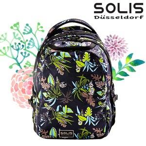 【SOLIS】基本款電腦後背包-熱帶天堂鳥Paradise-熱帶綠 Reise 小(B0502028)