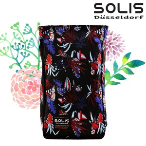 【SOLIS】多功能方型平板電腦背包-熱帶天堂鳥Paradise-熱帶紅(B09015)