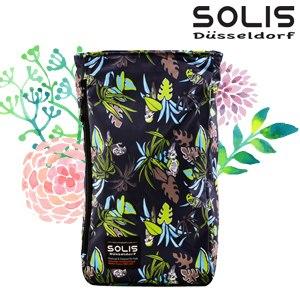 【SOLIS】多功能方型平板電腦背包-熱帶天堂鳥Paradise-熱帶綠(B09016)