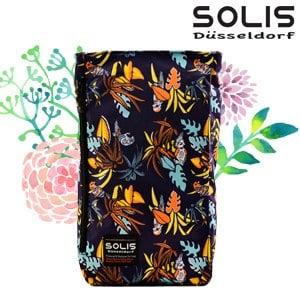 【SOLIS】多功能方型平板電腦背包-熱帶天堂鳥Paradise-熱帶桔(B09017)