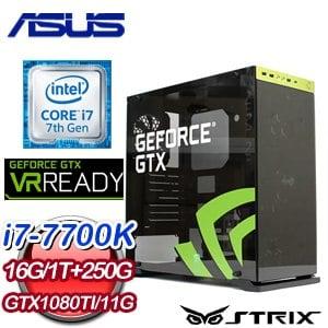 華碩 GAMER【君臨天下】Intel Core i7-7700K GTX1080 TI 11G 獨顯飆速電競機