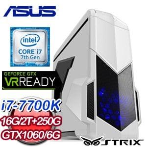 華碩 GAMER【嗜血妖刀】Intel i7-7700K GTX1060 6G 獨顯高效能電腦