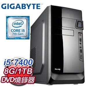 技嘉 PLAYER【鬥陣特工】Intel i5-7400 8G 1TB 優質效能電腦