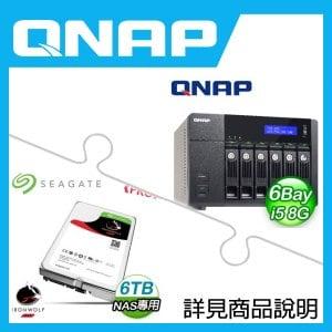 組合》 QNAP TVS-671-i5-8G NAS + 希捷 那嘶狼Pro 6TB NAS碟 * 2