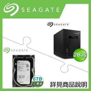 組合》 Seagate STCT300 NAS + 希捷 企業級 6TB 資料中心碟 * 2