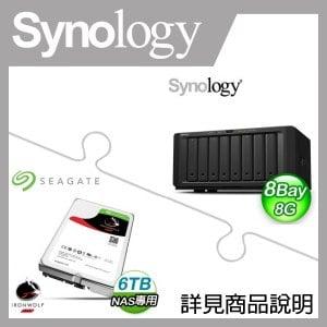組合》 Synology DS1817+(8G) NAS + 希捷 那嘶狼 6TB NAS碟 * 4