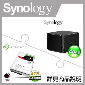 組合》 Synology DS416Play NAS + 希捷 那嘶狼 4TB NAS碟 * 2