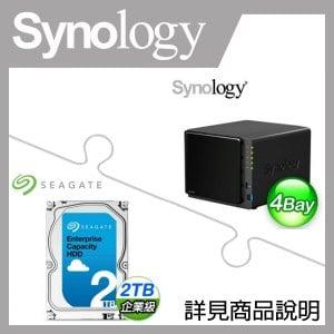 組合》 Synology DS416Play NAS + 希捷 企業級 2TB 資料中心碟 * 4