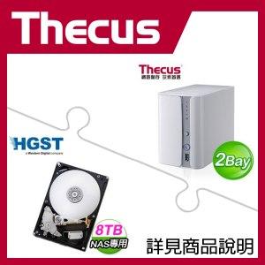 組合》 Thecus N2560 NAS + HGST 8TB NAS碟 * 2