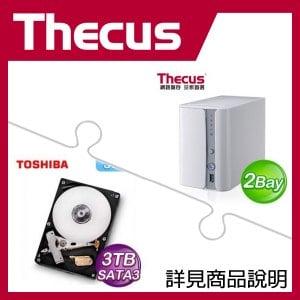 組合》 Thecus N2560 NAS + TOSHIBA 3TB 硬碟 * 2