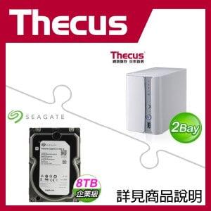 組合》 Thecus N2560 NAS + 希捷 企業級 8TB 資料中心碟 * 2