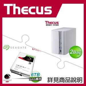 組合》 Thecus N2560 NAS + 希捷 那嘶狼Pro 6TB NAS碟 * 2
