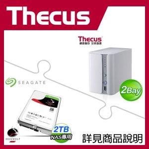 Thecus N2560 NAS + 希捷 那嘶狼 2TB NAS碟 * 2