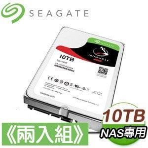 Seagate 希捷 那嘶狼 10TB NAS專用硬碟《兩入組》