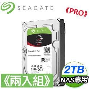 Seagate 希捷 那嘶狼Pro 2TB NAS專用硬碟《兩入組》