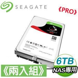 Seagate 希捷 那嘶狼Pro 6TB 7200轉 256MB SATA3 NAS專用硬碟