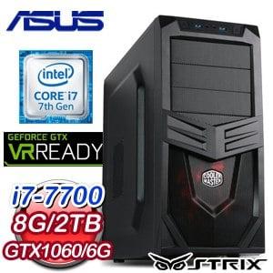 《本週特殺》華碩 HIGHER【唯我獨尊】Intel i7-7700 GTX 1060 6G 獨顯飆速電競機
