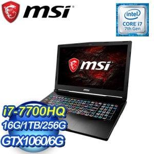 MSI 微星 GE63VR 7RE-053TW-BB7770H16G1T0DX10MH 15吋筆記型電腦