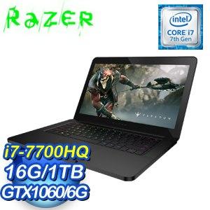 Razer 雷蛇 靈刃 BLADE-B6 14吋筆記型電腦(i7-7700HQ/16G/GTX 1060/1TB/Win10)