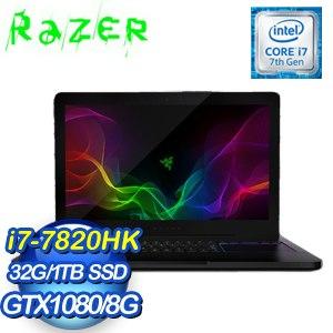 Razer 雷蛇 靈刃 BLADE PRO F2 17.3吋觸控筆記型電腦(i7-7820/32G/GTX 1080/1TB/Win10)