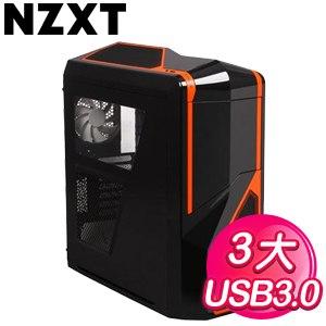 NZXT【Phantom 410】半透側 ATX電腦機殼《黑橘》