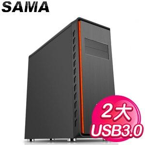 SAMA【掠食者】E-ATX電腦機殼《黑》
