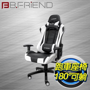 B.Friend GC03 電競專用椅《白黑》