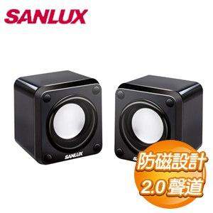 SANLUX 三洋 2.0聲道USB方塊電腦喇叭 SYSP~6711U